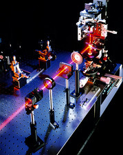 Laser for solar cell research