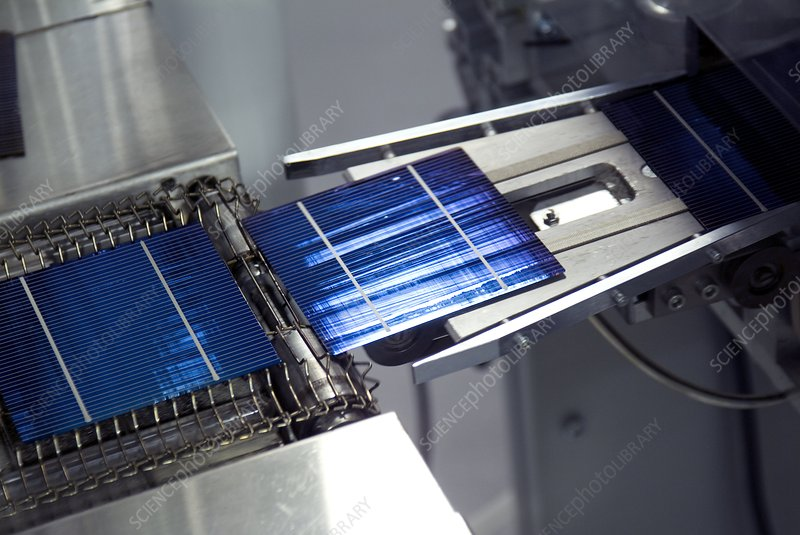 Solar cell production line