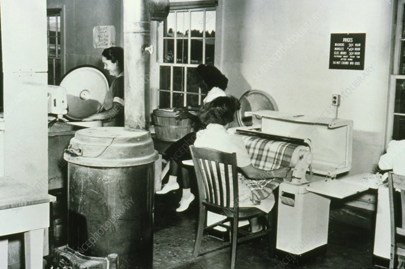 Community laundry at Los Alamos
