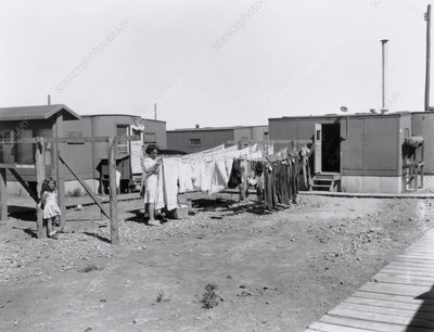 Accommodation trailers at Los Alamos