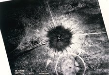 Aerial view of first atom bomb test site