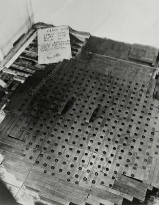 Layers 10 of Fermi's atomic pile, 1942