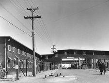 Buildings at Los Alamos laboratory in World War 2