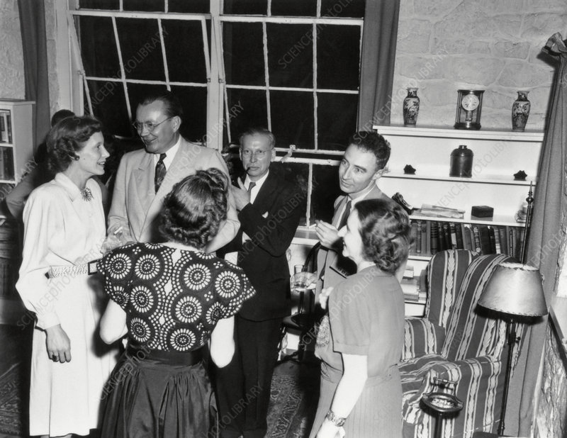 Party at Los Alamos, with Oppenheimer, World War 2