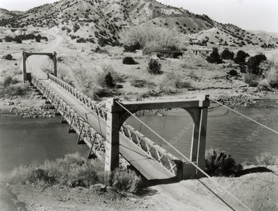Bridge at Otowi, Los Alamos, 1945