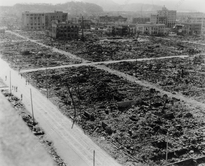 View of Hiroshima showing atomic bomb devastation