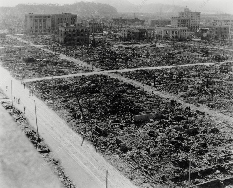 Dropping The Atomic Bomb. atomic bomb devastation