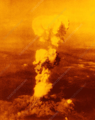 Atomic burst over Hiroshima
