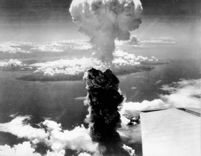Atomic burst over Nagasaki
