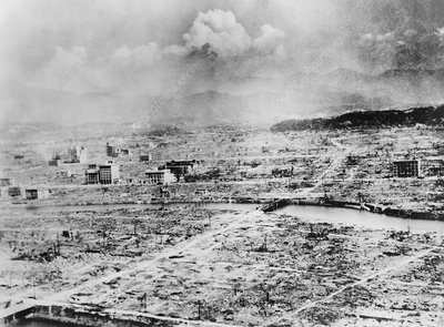 Atomic bomb destruction, Hiroshima