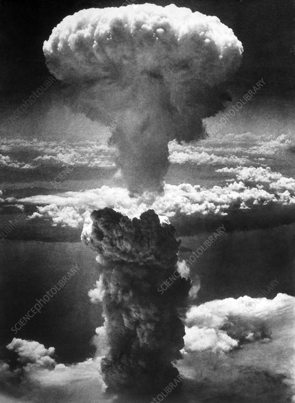 Atomic burst over Nagasaki, 1945