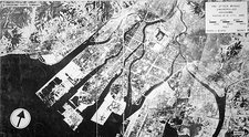Hiroshima before atom bomb, aerial view