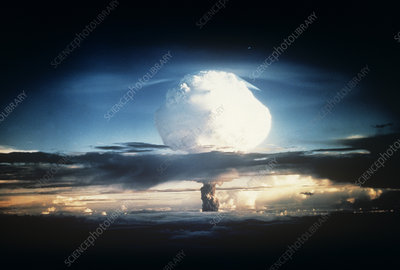 First hydrogen bomb explosion, 1952