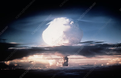 Explosion of first hydrogen bomb, 1952