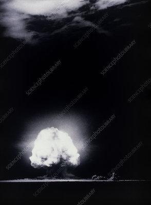 The Trinity Test, the first atomic explosion