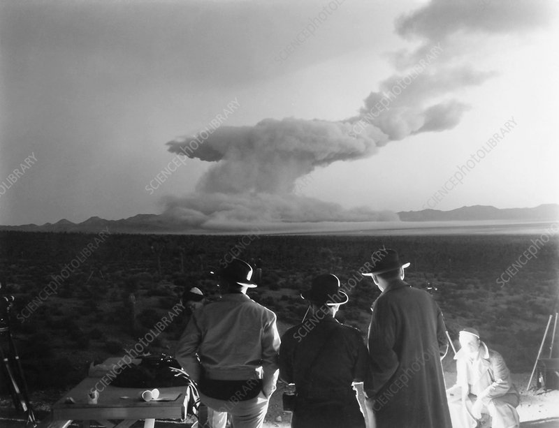 Operation Cue atom bomb test, 1955