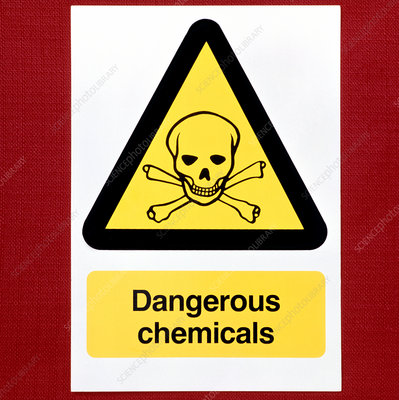 Sign warning of dangerous chemicals