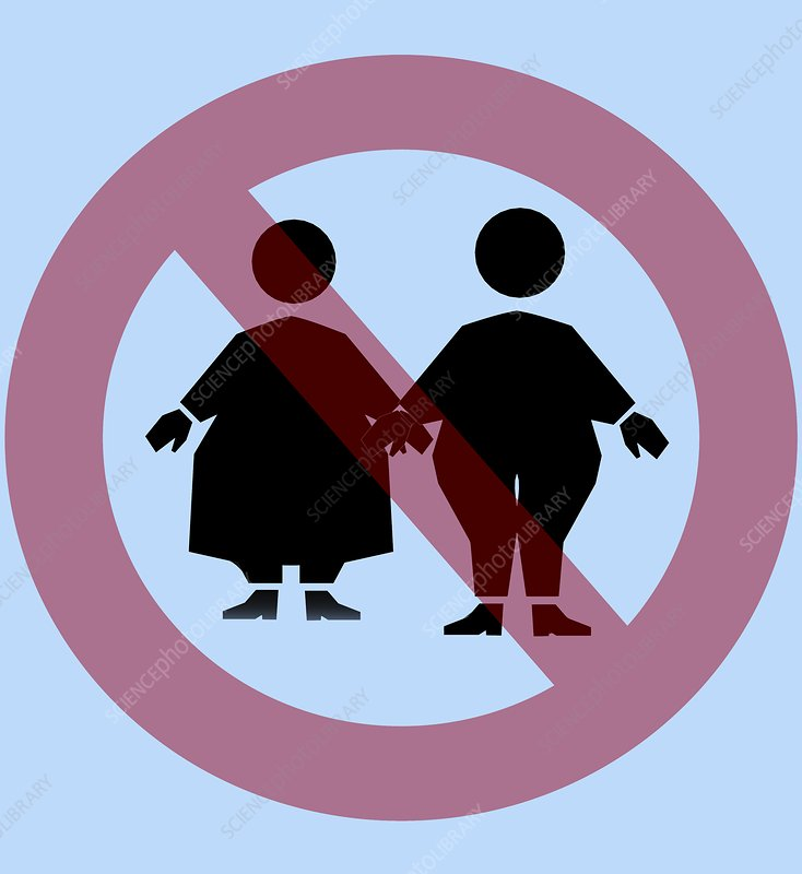 Weight discrimination, computer artwork