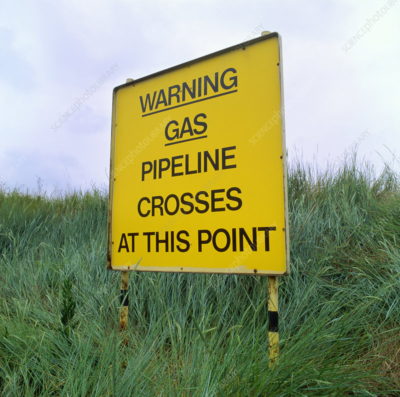 Gas pipeline sign