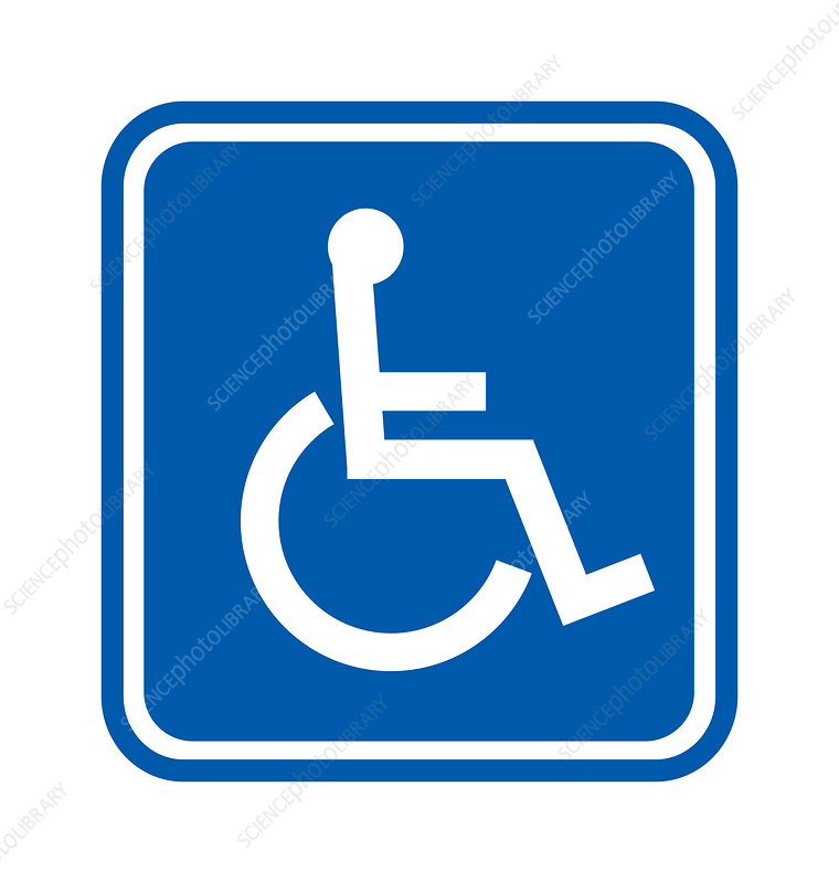 Disability sign, computer artwork