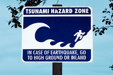 Tsunami warning sign