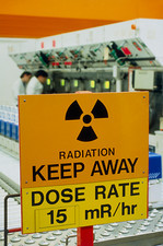Radiation hazard sign at Amersham International