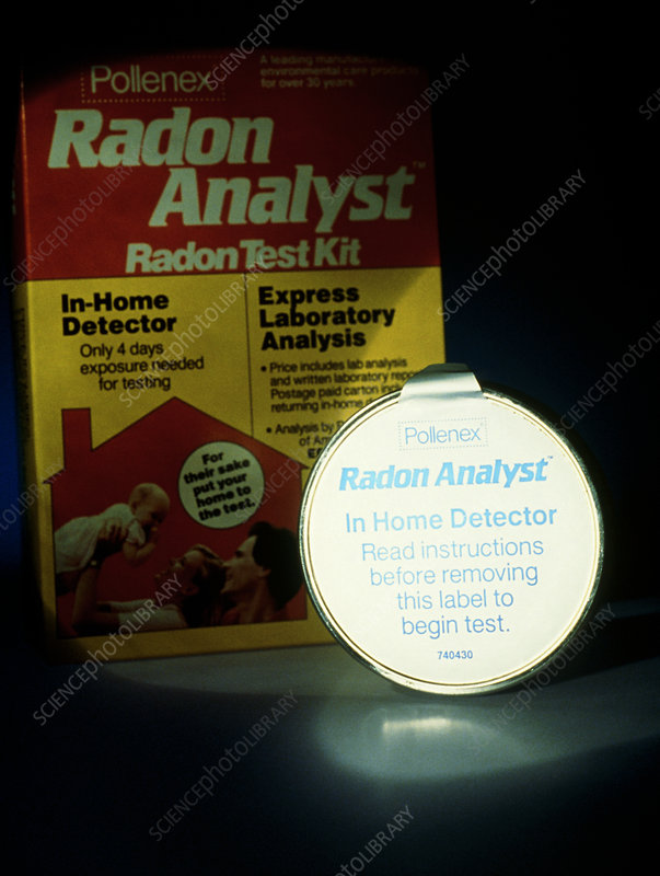 Equipment for detecting radioactive radon gas