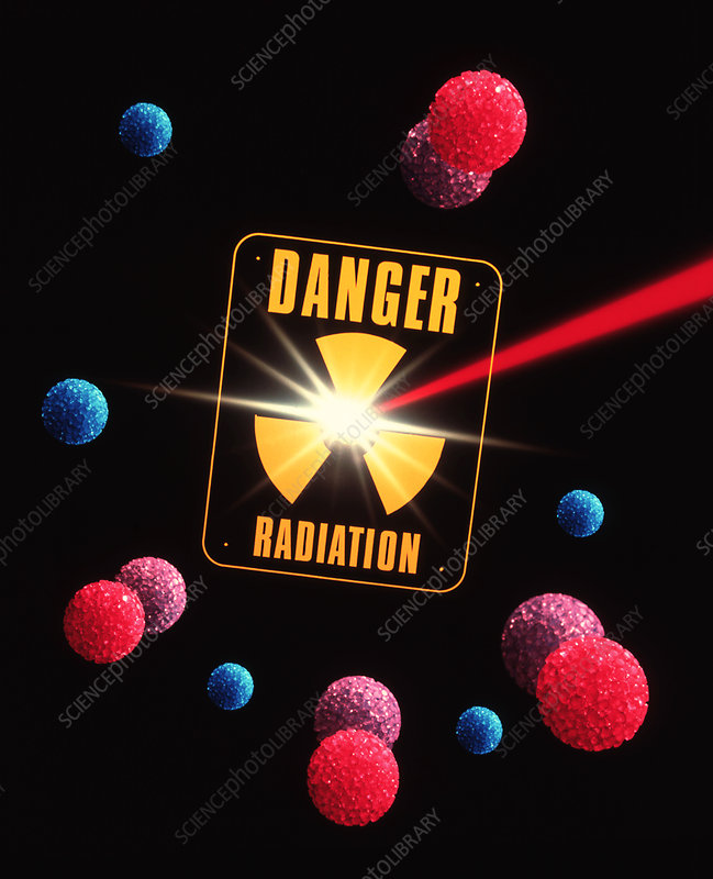Artwork of radiation and radiation warning sign