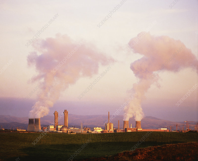Sellafield nuclear power reprocessing plant