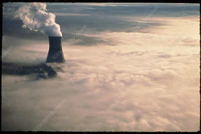Shearon Harris nuclear power station in fog