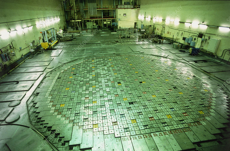 Reactor of Chernobyl RBMK nuclear power station