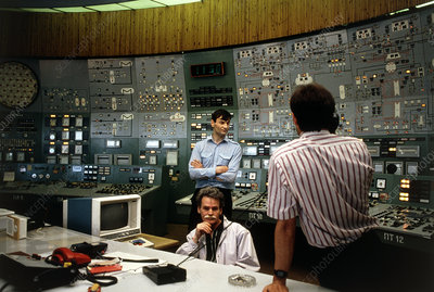 Control room of nuclear power station