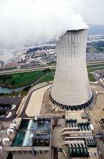 Nuclear industry cooling tower