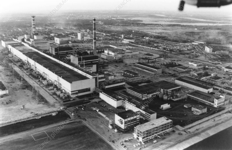 Aerial view of Chernobyl power station