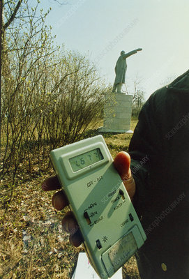 Monitoring fallout levels from Chernobyl.