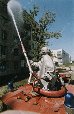 Decontamination in Chernobyl, Ukraine
