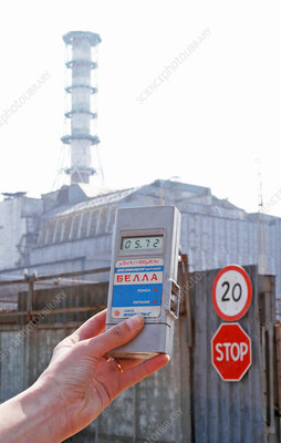 Radiation levels at Chernobyl
