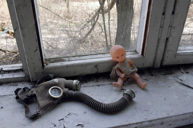 Items abandoned after Chernobyl disaster