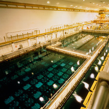 Used fuel cooling and storage pond at Sellafield