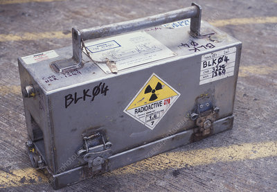 Radioactive container