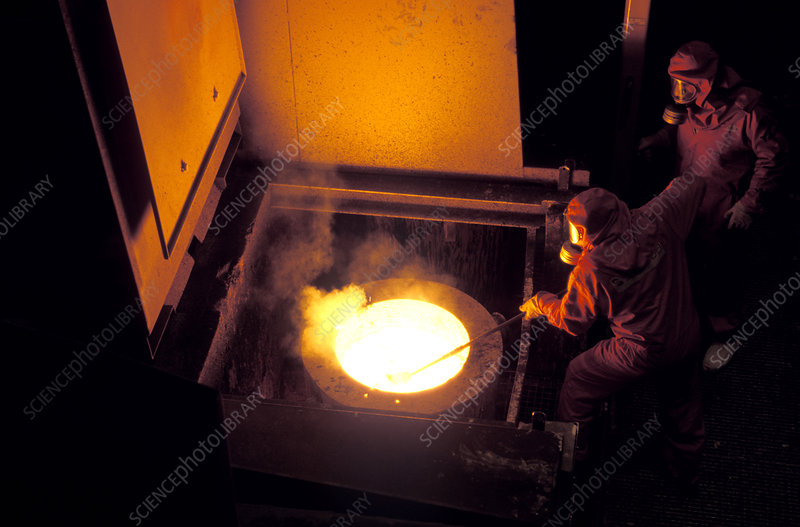 Low-level nuclear waste, casting ingots