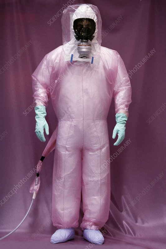 Nuclear decontamination worker