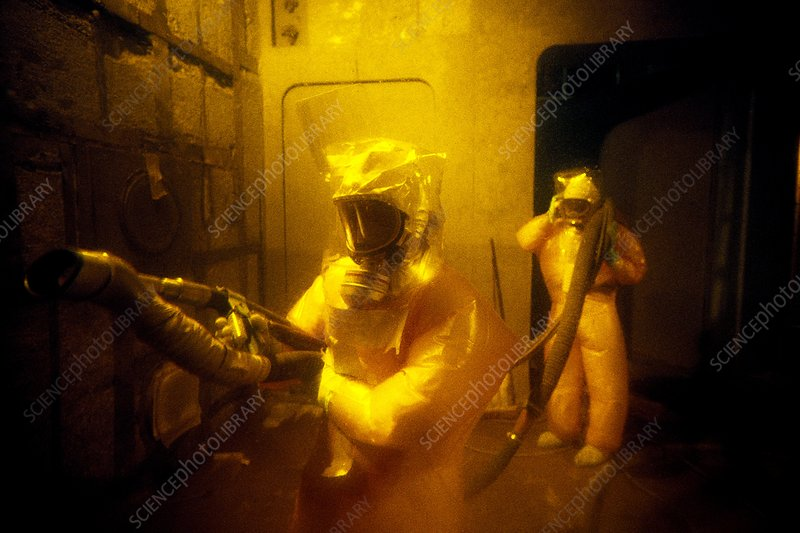 Nuclear decontamination workers