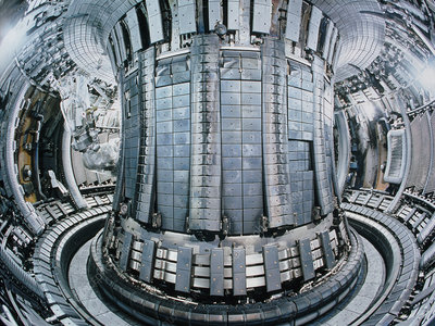 Interior of the JET Tokamak device