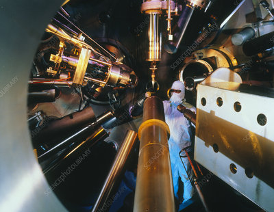 Interior of Nova laser fusion test chamber