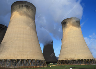 View of the cooling towers of Drax power station