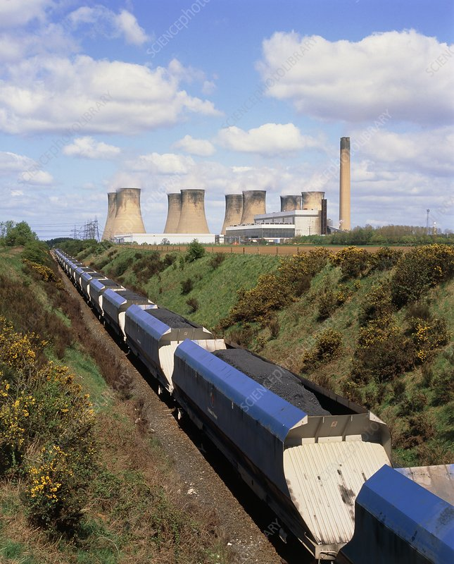 Train carrying coal to a power station