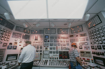 Control room at a power station