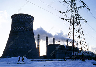 Fossil-fuel power station in Moscow, Russia