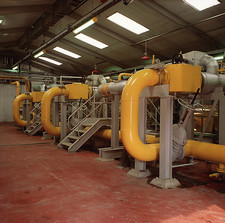 Landfill gas power station turbine hall